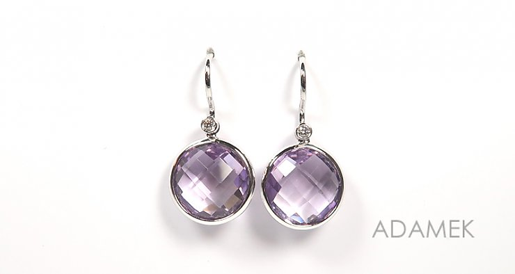 Amethyst rund facettiert Double Dome